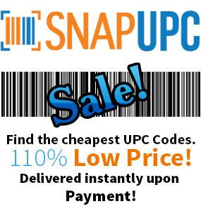Buy UPC codes instantly